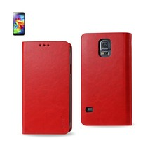 Reiko Samsung Galaxy S5 Flip Folio Case With Card Holder In Red - $8.70