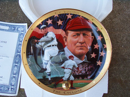 MIB - Franklin Mint Heirloom Plate - Royal Doulton -Cy Young- COA & Mailer - $24.74
