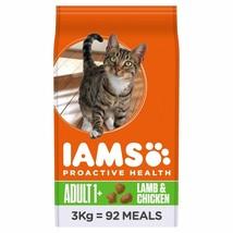 Iams Adult Dry Cat Food Lamb & Chicken 3kg - $55.04