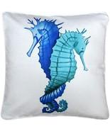 Pillow Decor - Capri Entwined Seahorses Throw Pillow 20x20 - $64.95