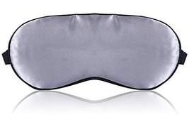 Silk Sleep Mask Blindfold, 3D Soft Lightweight Eye Masks for Women Men Gray - $11.59