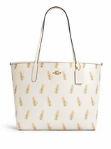 COACH WOMENS City Tote In Signature Canvas (Chalk Multi/Light Saddle)