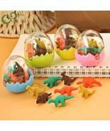 4Pcs Students Stationary Gift Novelty Mini Dinosaur Egg Pencil Rubber Er... - $16.19