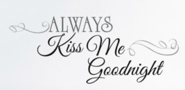"""RoomMates """"Kiss Me Goodnight"""" Peel Stick Wall Decals, Black, Pack of 11 Decals - $14.95"""