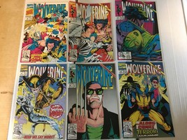 Wolverine #55 56 57 58 59 60 Marvel Comic Lot 6 1992 VF+/NM Condition X-MEN - $12.59