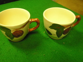-Magnicent Set of 2  FRANCISCAN Cups -Apple Pattern...FREE POSTAGE USA - $12.46