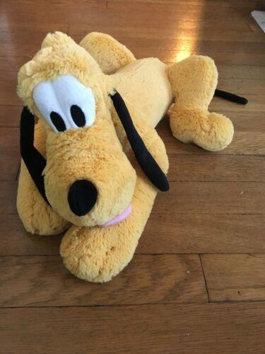 "* Disney Store Pluto Dog Plush Doll Medium Size 17"" Stuffed Animal"