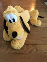"* Disney Store Pluto Dog Plush Doll Medium Size 17"" Stuffed Animal  - $12.87"