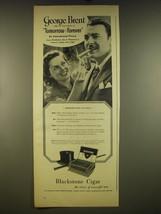1945 Blackstone Cigars Advertisement - George Brent and Joyce MacKenzie - $14.99