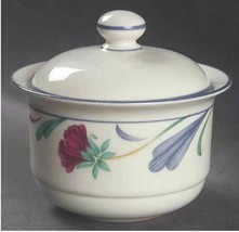 Lenox Poppies On Blue Sugar Bowl & Lid Freezer to Oven to Table - $25.23