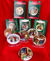 Hallmark Christmas Ornament Collectors Plate Series Set of 6 1987 88 89 90 91 92 - $33.66