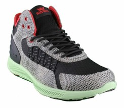 SUPRA Mens Snake Print Black Pale Green Owen Mid Sneakers Cross Trainer Shoes NW