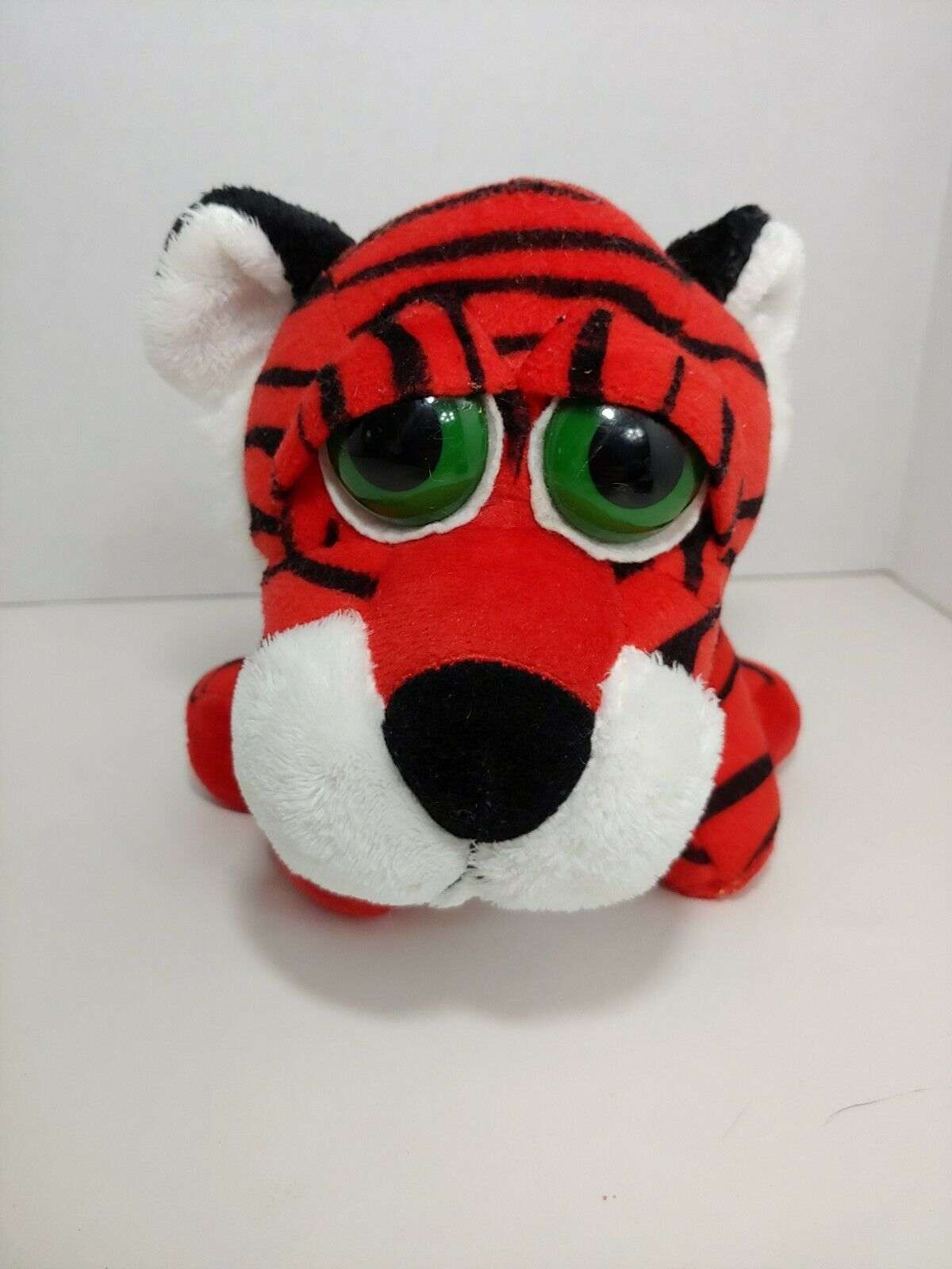 Primary image for Russ Berrie Plush vintage Triggles Tiger orange white black big green eyes