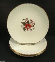 "Set of 4 Royal Worcester LYNBROOK 8"" Salad Plates 1964 Fine Bone China England - $11.24"