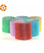 DIYHouse® 1Yard/Set 91.5MM 20Colors Mesh Trim Bling Diamond Wrap Cake Ro... - $4.76