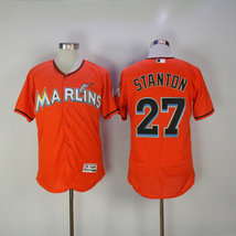 Men's Miami Marlins #27 STANTON Jersey Orange - $39.90