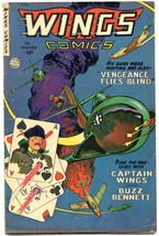 Wings #118 1952- Fiction House- Playing Card cover- Golden Age VG/FN - $50.91