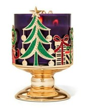 Bath & Body Works Sleight & Presents Pedestal 3 Wick Candle Holder Stand - $23.36