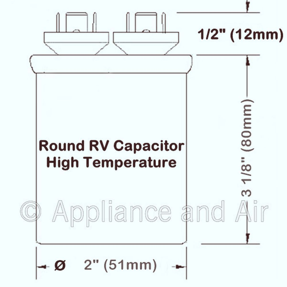 DuoTherm Dometic 3100248.420 Dual Capacitor 30+5 MFD RV Camper A/C +Instructions