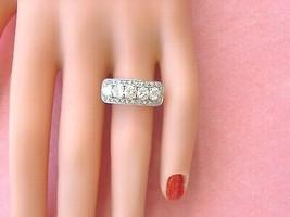 Vintage Art Deco 1+ctw Brilliant Diamond Platinum Unique Fancy 5-STONE Ring 1950 - $2,969.01
