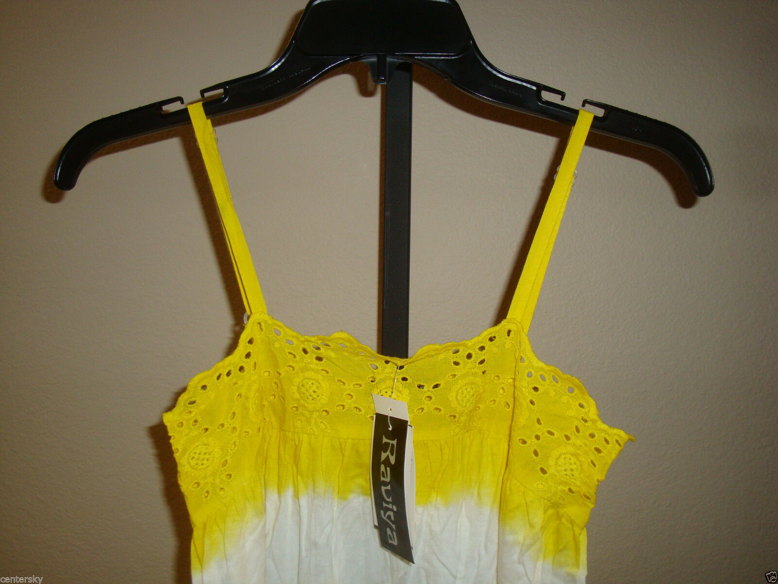 New $39 Raviya Women's Swimsuit Cover-up Lounge Beach Dress Yellow Wht Tie Dye S image 3