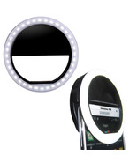Portable Selfie LED Ring Flash Clip Fill Light Camera For Mobile android... - $8.84