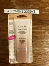 Almay Smart Shade Liquid Makeup Light/Medium #200 Skintone Match Sealed - $19.79