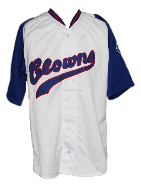 Henry hank aaron indianapolis clowns negro league retro baseball jersey white   1