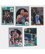 Charlotte Hornets Signed Autographes Lot of (5) Trading Cards - Curry, L... - $14.99