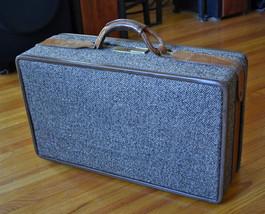 "Vintage Luggage Hartmann Tweed Leather Suitcase - Toile Lining - 21"" x 12"" - $75.95"