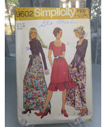 Vintage Simplicity 9602 Sewing Pattern Miss Evening Dress Pattern Size 1... - $8.00
