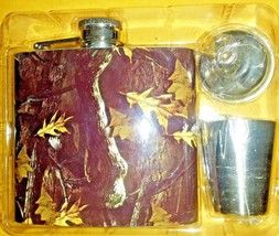 Saddlebred Outdoors 5 oz Stainless Steel Flask Set With Funnel and Shot ... - $14.84