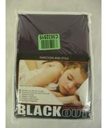"""Blackout Curtains Antique Bronze Grommet Top 52""""W x 90""""L Pair Purple BHF - $39.59"""