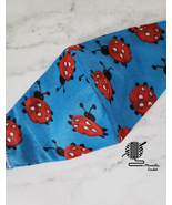 Kids Face Mask Red Ladybug Blue Cotton Fabric Double Layer Washable Hand... - $10.00
