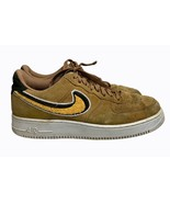 Nike Air Force 1 Low 07 LV8 3D Chenille Swoosh Muted Bronze White Yellow... - $87.39