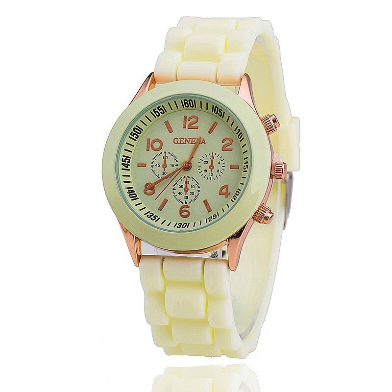 Silicone Geneva Watch Relogio Feminino Fashion Women Wristwatch Casual Luxury Wa