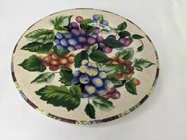"Sakura Sonoma Excell Salad Plate 8"" Grapes Mixed Fruits Stoneware - $6.95"