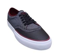 Unisex Converse Crimson Ox Black/Bordeaux Skateboard Shoes [155423C] - $42.99