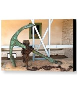 Antique Boat Anchor by Barbara Snyder Custom House Plaza Monterey Canvas... - $266.31