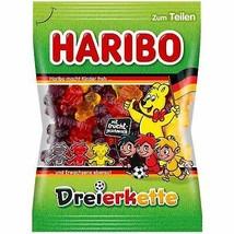 HARIBO Dreierkette triple chain gummy bears-175g-Made in Germany-FREE SHIPPING - $7.91