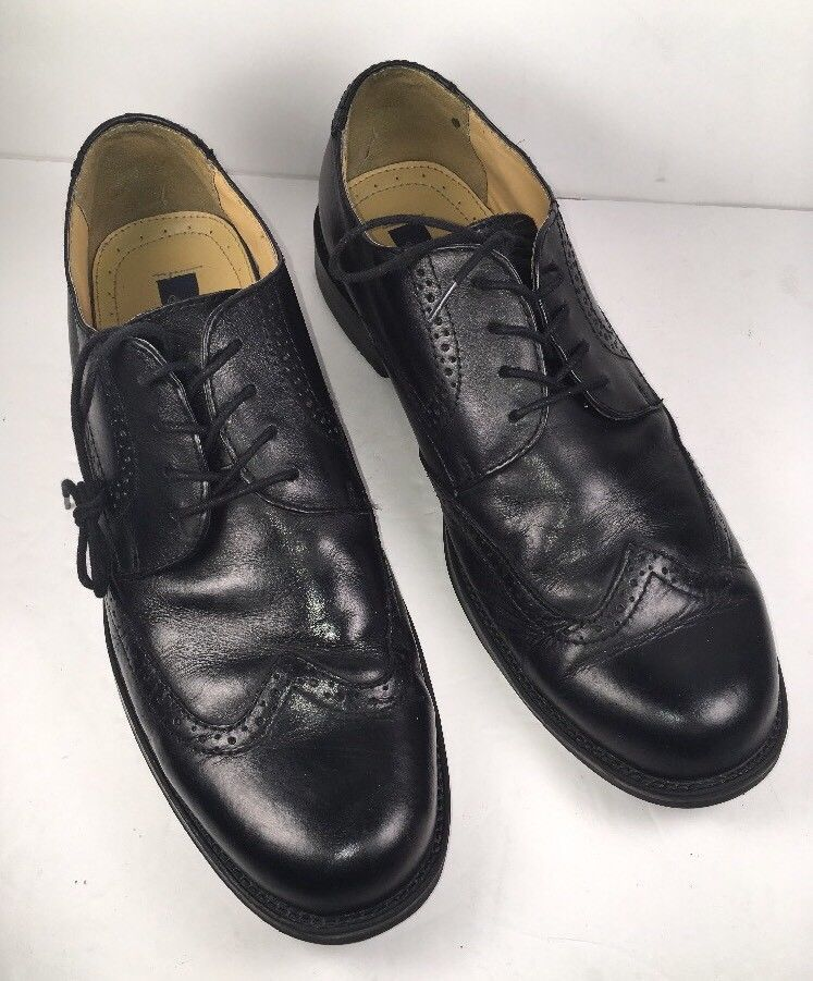 541418ddf BASS Men s Oxfords S-10 M Winston Black Leather Wing Tip Brogue Dress Shoes