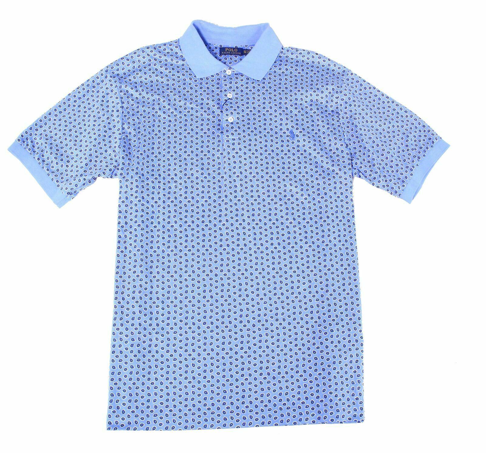 NWT $98 Polo Ralph Lauren Short Sleeve Shirt Mens LT 2XLT  Blue Plaid Cotton NEW