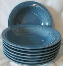 Arita Sculpture Blue Rim Coup or Cereal Bowl, Set of 8 - $40.48