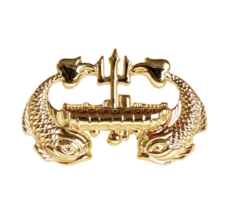 Genuine U.S. Navy Badge: Deep Submergence Officer Gold Breast Badge Pin Insignia - $16.81