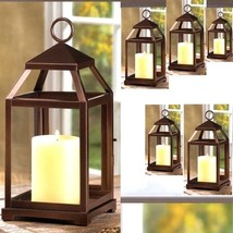 "6 Bronze Color Lantern Candle Holder Wedding Centerpieces 12"" Tall - $97.96"