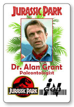 ALAN GRANT JURASSIC PARK NAME BADGE PROP HALLOWEEN COSPLAY PIN BACK - $13.16