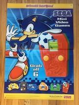 Sega Mcdonald's Happy Meal Poster. 2003. 2 Feet By 3 Feet. Free Shipping. - $9.46