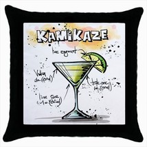 Throw pillow case chill out bar cocktail kamikaze - $19.50
