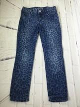 GAP Kids Girls Size 5 Super Skinny Stretch Denim Jeans Cheetah Print Adjustable - $9.49
