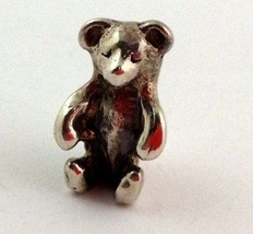 Authentic Trollbeads Teddy Bear Sterling Silver Bead Charm, New - $33.24